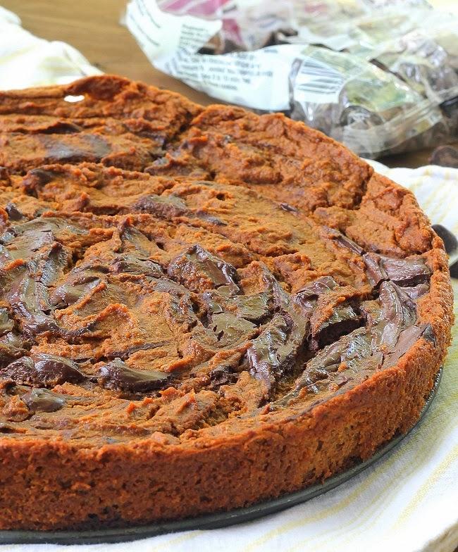 CRUSTLESS MARBLED CHOCOLATE PUMPKIN PIE 3