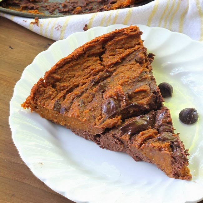 CRUSTLESS MARBLED CHOCOLATE PUMPKIN PIE 4