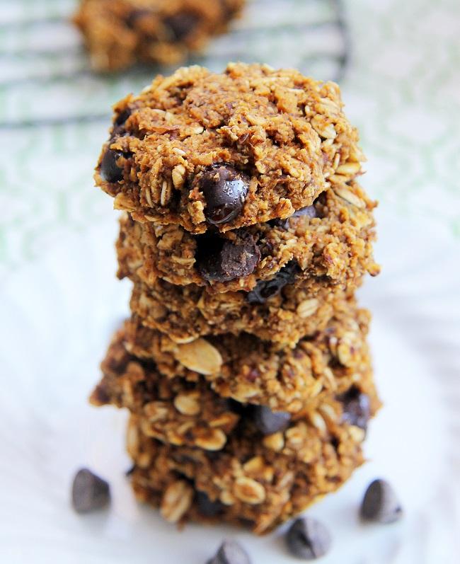 Pumpkin Chocolate Chip Oatmeal Cookies 3